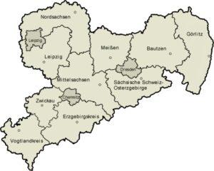 Karte der Landkreise